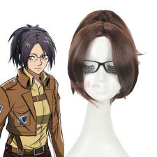 Attack On Titan Hanji Zoe Brown Clip On Ponytail Cosplay Full Wig