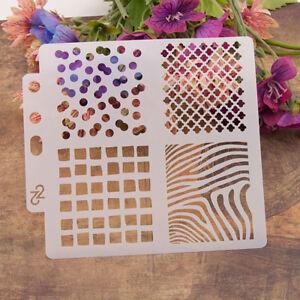 Reusable square Stencil Airbrush Art DIY Home Decor Scrapbooking Album CrafH5