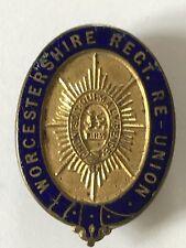 Vintage WORCESTERSHIRE REGT RE-UNION Enamel Lapel Badge