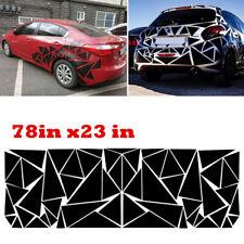 Vinyl Racing Car Stickers Art Decals Graphics Geometric Triangle Designs Black