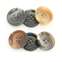50Pcs Black Round Resin Buttons 4-Holes sewing Scrapbooking Craft 15mm-25mm DIY