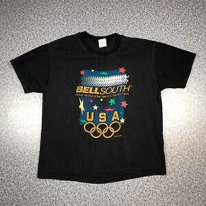 1996 Vintage US OLYMPIC TEAM SPONSOR T Shirt XL   Single Stitch HANES