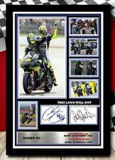 More details for (505) valentino rossi & cal crutchlow moto gp signed photograph unframed/framed