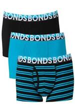Bonds Mens 01K Blue Black Everyday Trunk Brief 3 Pack Size L New