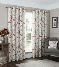 Floral 100% Cotton Window Curtains