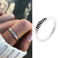Fashion Mom Infinity Ring I Love You Silver Sterling Gift Family BEST Mom