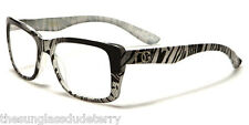 Reading Glasses +2.00 New Fashion Designer Readers Women Black Silver R12A200