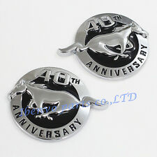 Running Horse Anniversary 40th Emblem Metal Faced Badge Chrome for Ford Mustang
