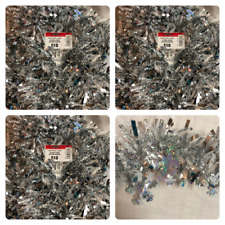 36' Holographic Snowflake Frozen Snow White Silver Tinsel Garland 3 Strands 12'