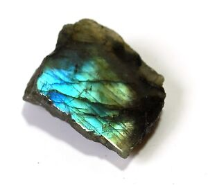 Reiki Energy Unique Raw Labradorite Slice Gemstone Healing Crystal Gift Wrapped