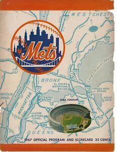1967  Baseball program,  New York Mets, scored FAIR