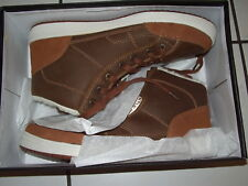 Retro Streetwear zapatos zapatillas marrón forradas semi alta hoodboyz tamaño 44-nuevo