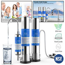Kitchen Countertop Water Purifier Filter Drinking Water Filtration System 304SS