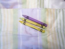 2 Curtain Panels 100% Silk Pottery Barn Kids Teens Purple Yellow Green Stripes