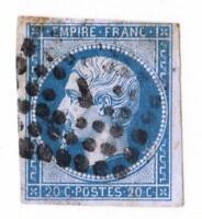 """EMPIRE - N°:14 A obliteration  """"J """" BUREAU DE QUARTIERS DE PARIS"""