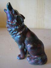 Wolf Statue Raku Ceramic Pottery Figurine OP003L