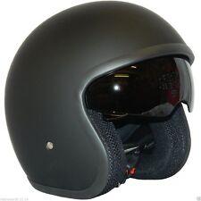 Motorradhelm Rs-v06 Rollerhelm Jethelm mit Drop Down Visier schwarz M