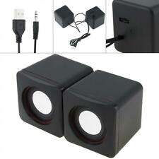 Computer Speakers 2.0 Stereo 5W USB 3.5mm Jack for Laptop Smartphone Mp3 Mp4 PC