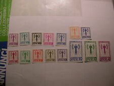 France:lot of 15 French stamps set of etat francais timbres depicting axes