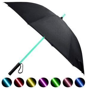 Light Saber Star Wars Gift Type 7 Color Lightsaber LED Black Umbrella Flashlight