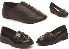 f895d70cd4265 Girls Shoes T Bar Brogues Loafer Patent PU School Shoe Size UK 10- 5