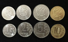 RUSSIA SET 4 COINS 1 2 5 10 ROUBLE 2017 UNC
