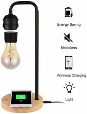 Levitating Bulb Gravity Floating Lamp Magetic W/ QI Wireless Charger Nightlight