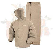 S/M Khaki Frog Frogg Toggs Togs Pro Lite Rain Gear Suit Wear PL12140-04S/M