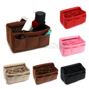 Women Handbag Organizers Bags Purse Insert Bag Felt Multi Pocket Tote Useful Ba