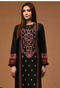 Limelight Embroidered front and sleeve lawn kurta stylized new style size s,m,L