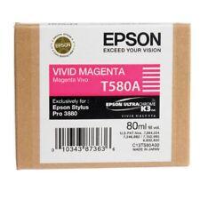 ORIGINALE Epson t580a inchiostro vivid magenta per Stylus Pro 3800 3880 2013 OVP