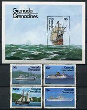 Grenada Grenadinen 1984 Schiffe Ships Navi Bateaux 611-614 + Block 82 ** MNH
