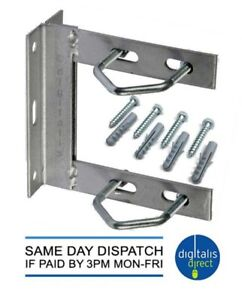 TV AERIAL GALVANISED WALL MOUNT BRACKET 6″ X 6″ INCLUDING V BOLTS AND FIXINGS