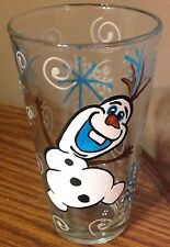 2- Hand Painted Olaf Snowman Drinking Glasses