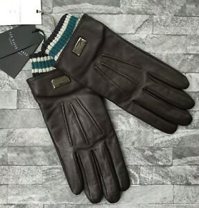 TED BAKER BROWN OVINE LEATHER SMART TECH GLOVES SIZE S/M BNWT