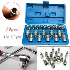 """19PCS Torx Socket Bit Set 1/2"""" E Type Chrome Vanadium Bright Chrome Repair Tools"""