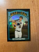 2021 Topps Heritage - Christian Yelich - #251 Black Refractor #'d 03/72 BREWERS