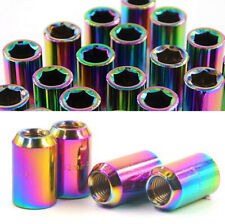 20 Pcs M12x1.25mm Colorful Chrome Inner Racing  Car Wheel Lug Nuts Alloy Steel