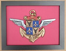 Large Scale Framed French GCCPM Badge Plaque Parachute Regiment France