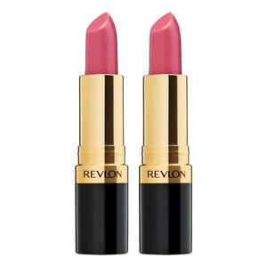 2x Revlon Super Lustrous/Moisturising Lipstick Women Sheer 805 Kissable Pink