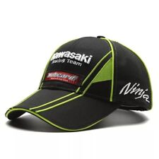 Kawasaki Cap Motorcycle Logo Baseball Black Green Hat Motorrad Ninja Racing Team