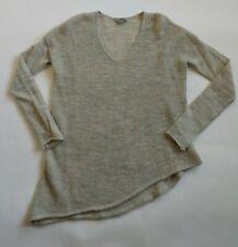 HELMUT LANG Alpaca Gray Marled Asymmetrical Hem Sweater ~ Women's Medium