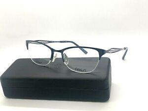 Authentic FLEXON MAE 412 NAVY  Eyeglasses Frame 51-18-140mm /CASE