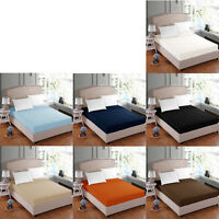 Easy Care Polyester Cotton Fitted Sheet Only - SINGLE DOUBLE QUEEN