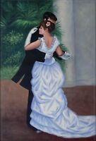 Pierre Renoir Dance in the City Repro, Hand Painted Oil Painting 24x36in