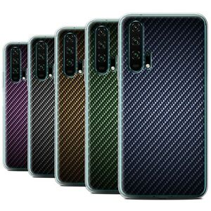 STUFF4 Gel/TPU Case/Cover for Huawei Honor 20 Pro/Carbon Fibre Effect/Pattern