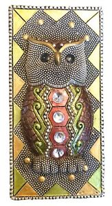 """Owl"" Rectangle Trinket Box w/Top Table Decor 6x3x3"" Jewels, Resin, Beautiful!"