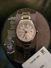 Citizen FE6100-59X Eco Drive Womens Pink Dial Stainless Steel Watch NWT NIB