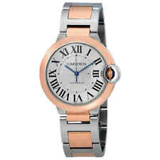 Cartier Ballon Bleu De Cartier Silvered Flinque Guilloche Dial Automatic Ladies