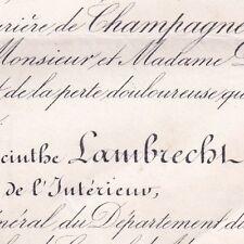 Félix Edmond Yacinthe Lambrecht 1871 Ministre de l'Intérieur Mines d'Anzin Nord